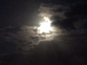 very shy super moon on this occasion