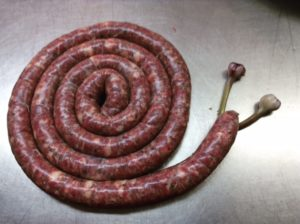 We couldn't resist this little folly. Sausages were cooked up for breakfast on the final day.