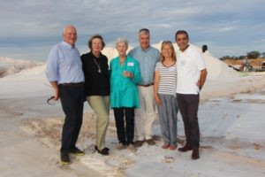 Rayner and Gabriella, Des and Celia and Vick and Murray at the Murray River Salt beds for Stefano's picnic dinner